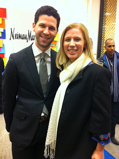 "Matthew Singer, Neiman Marcus Men's Fashion Director and ""Me"" Heather Neisworth"