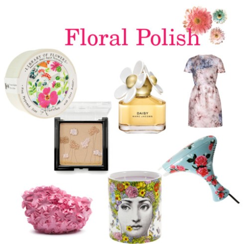 makeup, beauty, daisy fragrance, perfume, fragrance, scent, blush, candle, Daisy, dress, etsy, floral, flowers, fornassetti, library of flowers, makeup bag, Marc Jacobs, soap, stilla, stylebop, travel dryer, valentino