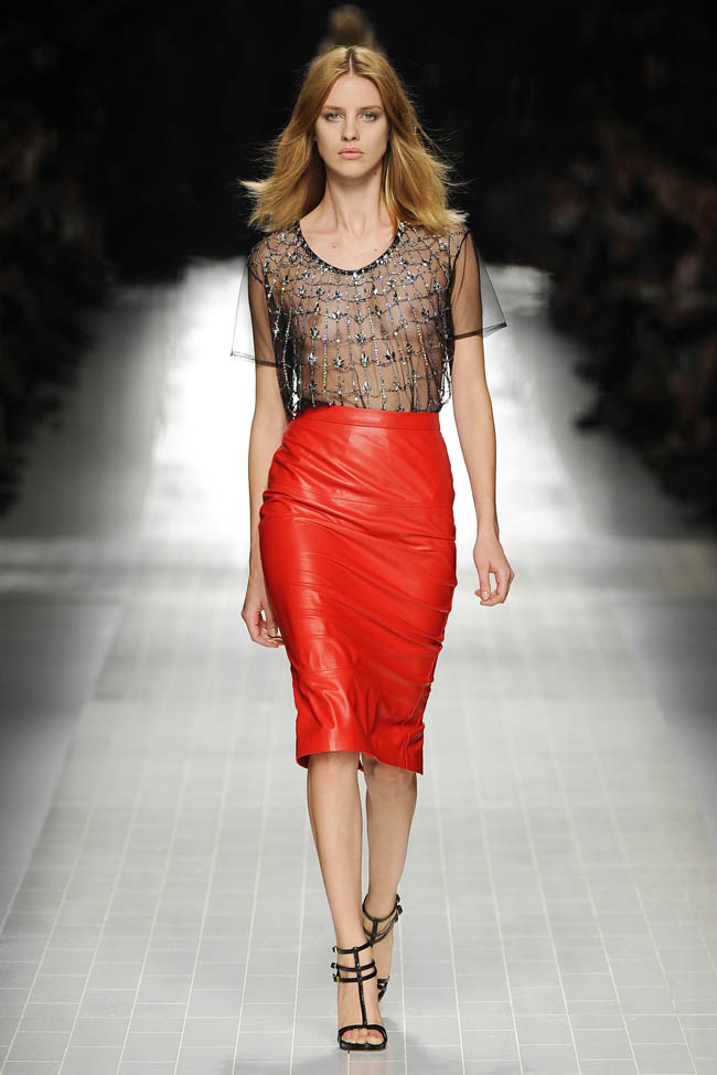 bementioned, heather neisworth, Spring, Blumarine, leather, red, Spring trends, spring 2014, italy, skirt, red leather skirts, italian designers, couture,milan, milan fashion weekX skirtsX what are spring trends