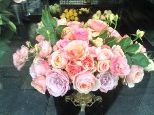 flowers, roses, paris, paris france, eiffel tower, heather neisworth, bementioned communications, flower arrangement, florist, floral, weddings, birthdays, gifts, flower shop, green, pink, red, white, green leaves